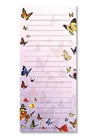 Bugsnbees Gt Butterfly Gifts Gt Butterflies Magnetic Notepad