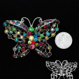 Multicolored Crystal Butterfly Pin