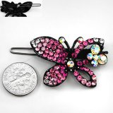 Fuschia Crystal Butterfly Hair Barrette