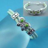 Kids Green Butterfly Bracelet