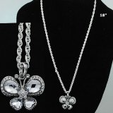 Clear Stone Butterfly Necklace