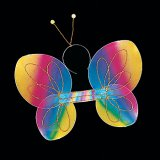 Rainbow Butterfly Costume Wings & Headband