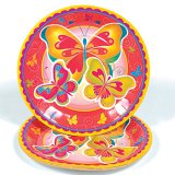 Butterfly Large Party Plates, pk/8