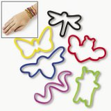 Bug-Shaped Silicone Wristbands, pk/12