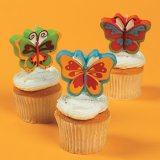 Butterfly Cake Topper Candle (one candle, colors vary)