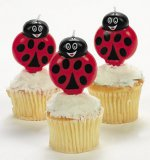 Ladybug-Shaped Cake Topper Candle (one candle)