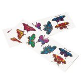 Mini Butterfly Tattoos, 12 sheets