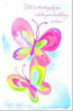 "Butterfly Birthday Card ""Thinking of You"""