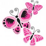 Pink Butterflies Adult T-Shirt