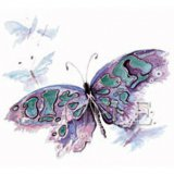 Watercolor Butterfly Adult T-Shirt