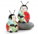 Playful Ladybug Salt & Pepper Shakers