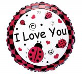 """I Love You"" Foil Ladybug Balloon"