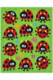 Ladybugs Shaped Stickers, pk/72
