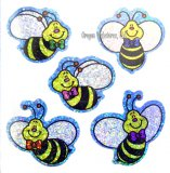 Sparkly Bee Stickers, pk/75