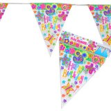 Spring Butterfly Pennant Birthday Banner
