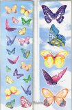 Dancing Butterfly Stickers, 8 sheets