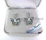 Delicate Butterfly Abalone Earrings