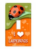 """I Love Ladybugs"" Switchplate Sticker"
