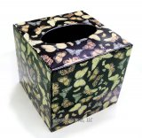 Metal Butterfly Tissue Box Cover- Black