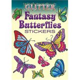 Glitter Fantasy Butterfly Stickers (16)