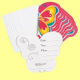 Butterfly Shaped Party Invitations, pk/8