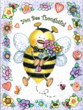 """You Bee Thoughtful"" Petite Bee Thank You Card"