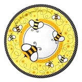 Buzzy Bumblebee Large Party Plates, pk/8