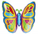 Bright Butterfly Foil Balloon 25""