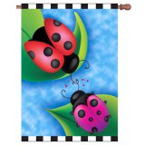Sweet Rendezvous Ladybugs House Flag