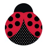 Ladybug Fancy: Shaped Party Plates (8)