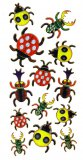 Prismatic Lady Bug and Beetle Stickers