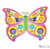 Giant Shaped Butterfly Sticker Fun (12 sets)