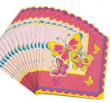 Butterfly Large Party Napkins, pk/16
