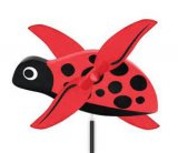 Whirlygig LadyBug Outdoor Decor