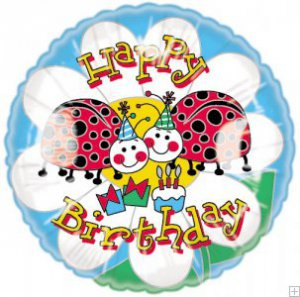 Party Ladybugs Birthday Balloon
