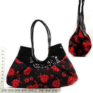 Ladybug Black/Red Canvas Purse