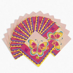 Butterfly Small Party Napkins, pk/16