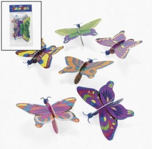 Foam Butterfly Gliders, pk/6