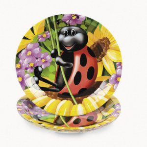 Ladybug Small Party Plates, pk/8