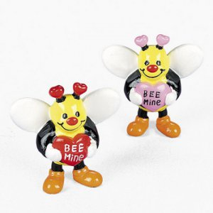 "Mini Vinyl Valentine Bumblebee ""Bee Mine"""