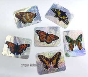 Butterfly Prism Stickers, pk/144