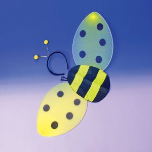 Honey Bee Costume Wings with Head Bobber