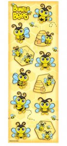 Bumblebee Stickers, 1 sheet/12