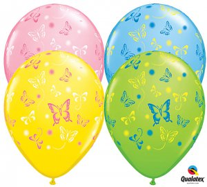 Four Latex Butterfly Balloons