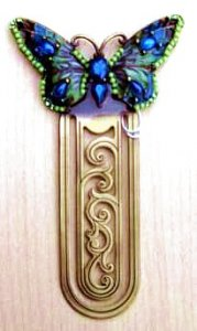 Jeweled Enamel Butterfly Bookmark