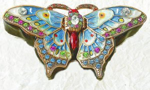 Blue Butterfly Jewel Box
