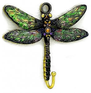 Jeweled Dragonfly Wall Hook