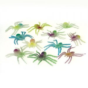Glow in the Dark Spiders, pk/12