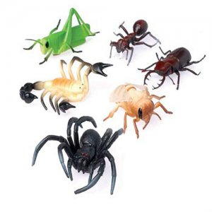 Giant Plastic Assorted Bugs, pk/12