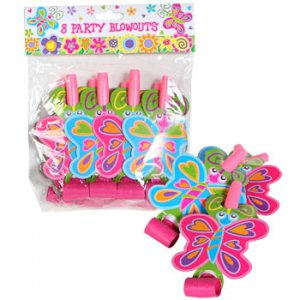 Spring Butterfly Party Blowouts, pk/8